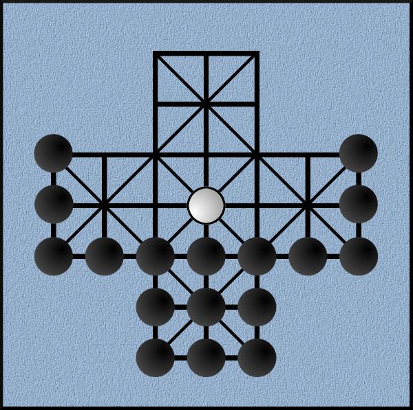 Freys-tafl (wersja 17 pionów)